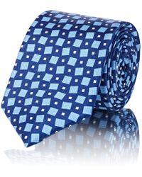 Barneys New York - Square-print Silk Satin Necktie - Lyst