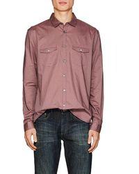 John Varvatos - Cotton Voile Shirt - Lyst