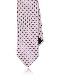 Barneys New York - Flower-dot Silk Twill Necktie - Lyst