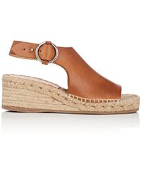 Rag & Bone - Calla Leather Wedge Espadrille Sandals - Lyst