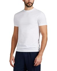 Zimmerli - Piqué Como Stretch-cotton Crewneck T-shirt - Lyst
