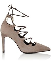 Barneys New York - Suede Lace-up Court Shoes - Lyst