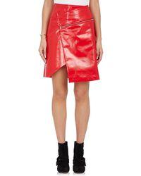 Ji Oh | Faux Leather Asymmetric Skirt | Lyst