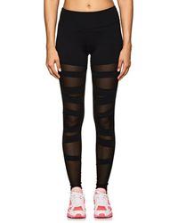 Electric Yoga - Mesh-inset Jersey Leggings - Lyst