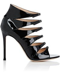 Gianvito Rossi - Vernero Patent Leather Multi-strap Ankle Booties - Lyst