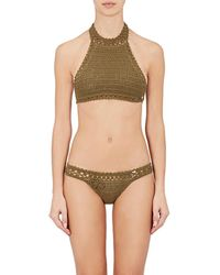 She Made Me - Essential Cotton Halter Bikini Top - Lyst