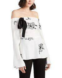 c1bb54552dc908 10 Crosby Derek Lam - Floral Crepe Off-the-shoulder Blouse - Lyst