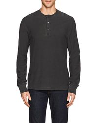 James Perse - Cotton Jersey Henley - Lyst