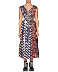 5d7266c3f2db Oasis Photographic Floral Shift Dress in Green - Lyst