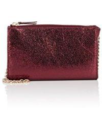 Barneys New York - Hannah Metallic Leather Crossbody Bag - Lyst