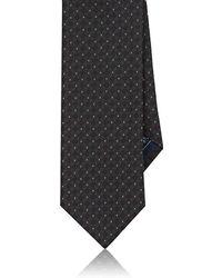 Brioni - Circle Jacquard Silk Canvas Necktie - Lyst