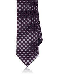 Barneys New York - Square-dot Textured Silk Necktie - Lyst