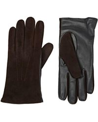 Barneys New York Tech-smart Suede Gloves