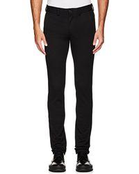 Barneys New York - Cotton-blend Slim Trousers - Lyst