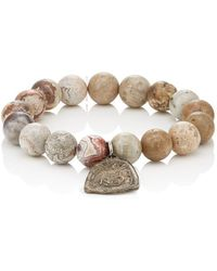 MI by Miracle Icons - Vintage Charms On Beaded Bracelet - Lyst