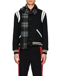 Valentino - Embellished Plaid Wool Scarf - Lyst