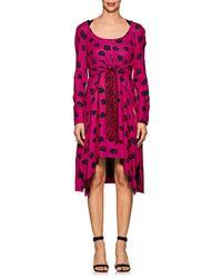 Proenza Schouler - Abstract Floral Crepe Asymmetric Dress - Lyst