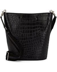 Steven Alan Rhys Crocodile-stamped Leather Bucket Bag