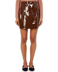 Nina Ricci - Pleated Patent Leather Miniskirt - Lyst