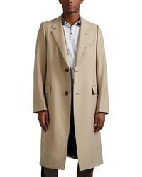 Lanvin - Contrast-stitched Wool Gabardine Coat - Lyst
