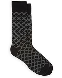Barneys New York - Plaid Cotton-blend Mid-calf Socks - Lyst