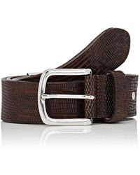 Barneys New York - Embossed Leather Belt - Lyst