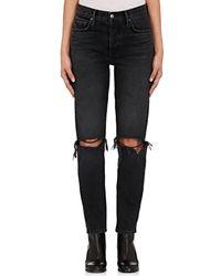 GRLFRND - Karolina Distressed Skinny Jeans - Lyst