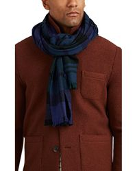 Drake's - Plaid Wool Scarf - Lyst