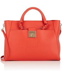 4c9ebfe281f Lyst - Versace Large Saffiano Leather Tote
