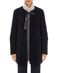 Chloé - Leather-trimmed Shearling Coat - Lyst