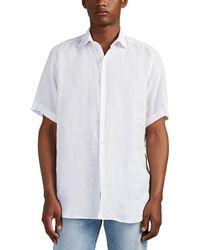 Piattelli Linen Short-sleeve Shirt - White