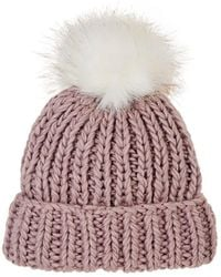 Barneys New York - Pom-pom-embellished Wool-blend Hat - Lyst