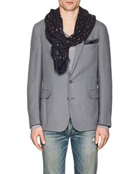 Drake's - Dotted Twill Scarf - Lyst