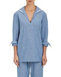 Sleepy Jones - Francine Sailor Chambray Pajama Shirt - Lyst