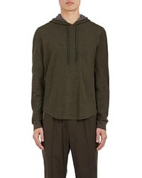 Vince - Double-faced Cotton-wool Hoodie - Lyst