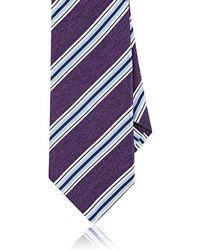 Barneys New York | Striped Textured Silk Necktie | Lyst