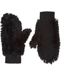 Barneys New York - Rabbit Fur & Cashmere Mittens - Lyst