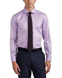 cfb8f08dbc Barneys New York - Herringbone-weave Cotton Shirt - Lyst