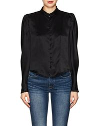 27d802ef FRAME Victorian Button Up Blouse in Blue - Lyst