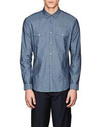 John Varvatos - X Jacquard Cotton Shirt - Lyst