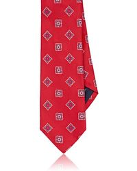 Paolo Albizzati - Square-pattern Silk Twill Necktie - Lyst