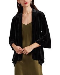 Barneys New York - Velvet Shawl-collar Cardigan Jacket - Lyst