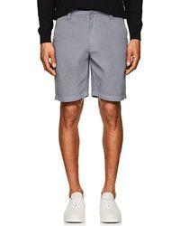 Barneys New York - Cotton Twill Shorts - Lyst
