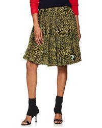 Prada - Pleated Wool Tweed Miniskirt - Lyst