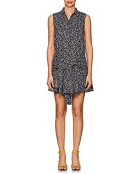 10 Crosby Derek Lam - Sleeve-detailed Floral Cotton Cady Dress - Lyst