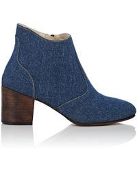 Esquivel - Jill Washed Denim Ankle Boots - Lyst