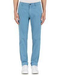 Barneys New York - Corded Stretch-cotton Slim Chinos - Lyst