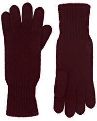 Barneys New York Cashmere Gloves - Purple