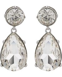 Kenneth Jay Lane - Crystal Drop Earrings - Lyst