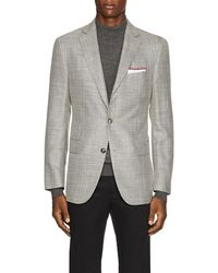 Pal Zileri - Basket-weave Wool-blend Two-button Sportcoat - Lyst